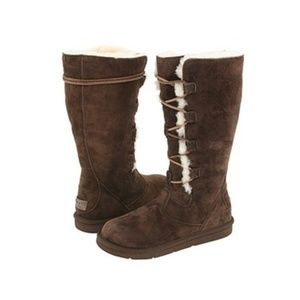 UGG Whitley Tall Lace Up Boots